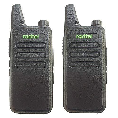 radtel rt-10Walkie Talkie ricaricabile UHF 16canali Scansione programmabile (Nero, 1coppia)