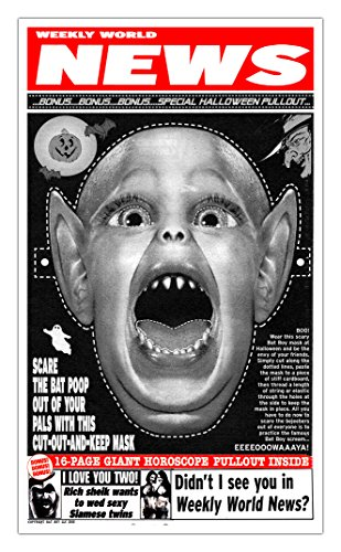Pro Diem Druck Weekly World News Bat Boy Maske showprint Poster