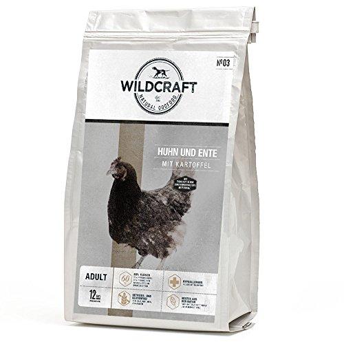 Wildcraft   Huhn und Ente mit Kartoffel   1 kg   getreidefreies Hundefutter   hoher Fleischanteil, frisch, gut verträglich   Trockenfutter für gesund glänzendes Fell   Monoprotein, bestens für Allergiker