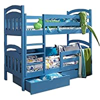 Ye Perfect Choice JACOB 2 Children Bunk Bed - Pine Wood - 24 Colours - 2 Sizes - 4 Types of Mattresses