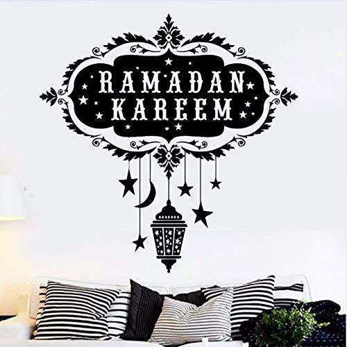 Makeyong Vinyl Wandtattoo RamadanArabische KunstWandaufkleberHome Wohnzimmer Dekoration Islam Muslim Wandkunst Wandaufkleber 42X42 Cm