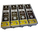 4 Black CiberDirect HIGH YIELD Compatible Ink Cartridges for use with Epson Expression Premium XP-520 Printers.