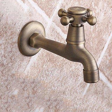 KYDJ ® 14 * 5 * 9,5 Messing gebürstet kaltem Wasser Waschbecken Wasserhahn (Land Badezimmer-hahn-)