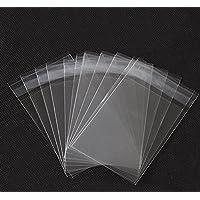 Fundas transparentes de celofán de 23 x 30,5 cm, con solapa autoadhesiva reutilizable, ideal para almacenar jabón, velas, galletas y bollería