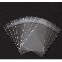 Bolsas con cierre adhesivo, 15,2 x 22,9 cm, fáciles de usar, transparentes, de celofán