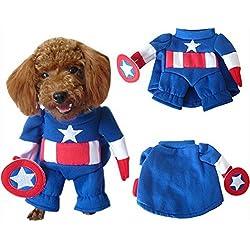 Capitán América disfraz de perro