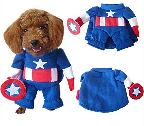 Captain Kostüme America Hund (Captain America Hund Kostüm)