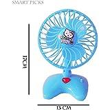 Smart Picks Battery Operated Mini Plastic Toy Fan For Kids_BLU