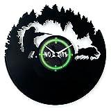 Uhr Jäger Geschenkidee Jäger Uhr Vinyl Wanduhr Geschenk Armeria Wanduhr Jagd