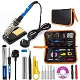 Electric Soldering Iron Kit, EletecPro Welding Tools Temperature Adjustable 60W 220V Soldering Set