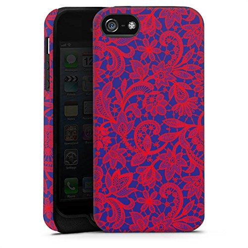 Apple iPhone 4 Housse Étui Silicone Coque Protection Fleur Motif Motif Cas Tough terne