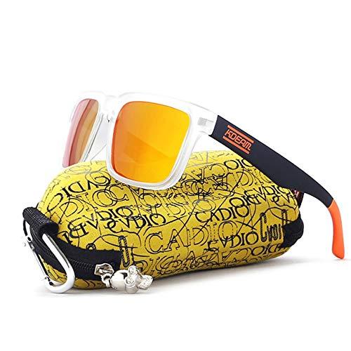 ShopSquare64 KDEAM KD901P-C7 polarisierte Sonnenbrille für Herren, Fahrrad Angeln Radfahren Fahren Motorrad Roller