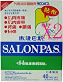Salonpas Pain Relief Patch - Medicated Plasters 80(2X40PATCHES)