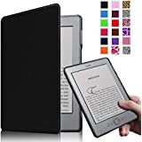 Fintie Kindle 5 & Kindle 4 Ultra Slim Case - The Thinnest and Lightest PU Leather Cover with Magnet Closure (Only Fit Amazon Kindle With 6'' E Ink Display, does not fit Kindle Paperwhite, Touch, or Keyboard), Black