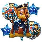 GRAND SHOP Grandshop 50855 Birthday / Baby Shower / Baby Boy Birthday Party Decoration Balloons Set of 5
