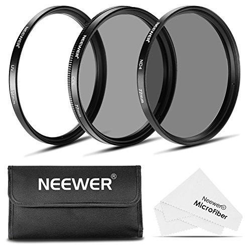 Neewer 77MM Objektiv Filter -Set: UV-Filter + CPL Filter + ND4 Filter...
