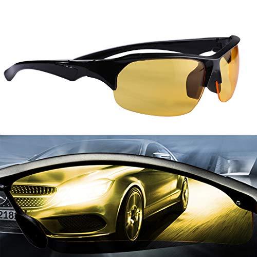 SPORTBRILLEN Brille zum Skifahren Gelbe Linse Blendschutz Nachtsichtbrille Sicherheit Fahrer Sonnenbrille für Männer/Frauen