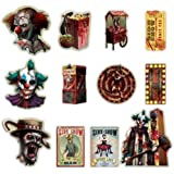 Amscan Creepy Carnival Seite zeigen, Cut Out Dekorationen x 12