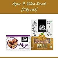 Wonderland Foods Premium Quality Anjeer 200g & Walnut Kernel 200g
