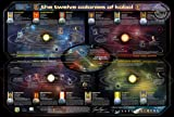 Qmx (26X39) Battlestar Galactica Map Of The 12 Colonies Tv Poster Print