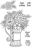 Woodware Clear Magic Flowers in a Can Stempel Set, Polymer, 21x 11x 0,6cm -