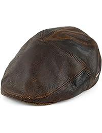 Bailey Hats Taxten Leather Flat Cap - Brown
