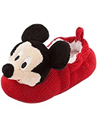 Disney Store Mickey Mouse Plush Slippers Shoes Size 6-12 Months Crochet