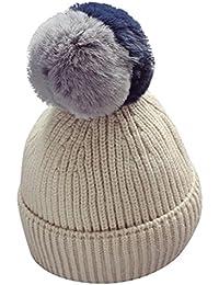 Yopindo Baby Junge Mädchen Winter Hut Warme Weiche Gestrickte Wolle