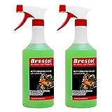 Brestol Motorradreiniger 2X 750 ml gebrauchsfertig - Insektenreiniger PolycarbonatInsektenentferner...