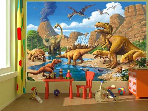 Affiche Dinosaure Murale Chambres Enfants Décoration Murs Comiquel