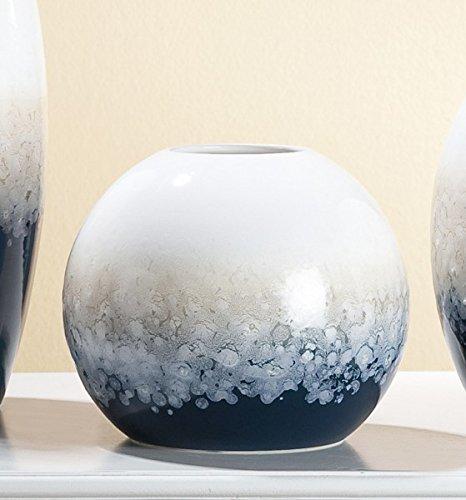 GILDE Kugelvase 'Laguna', 22 cm, Creme-Sand-blau -
