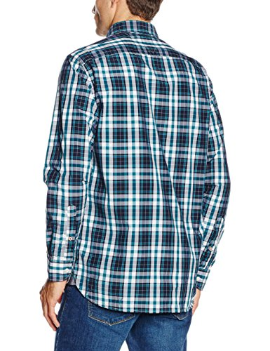 Tommy Hilfiger Atlantic, Chemise Casual Homme Multicolore (Shaded Spruce/Black Iris)