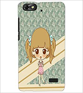 Printdhaba Cute Doll D-3801 Back Case Cover For Huawei Honor 4C