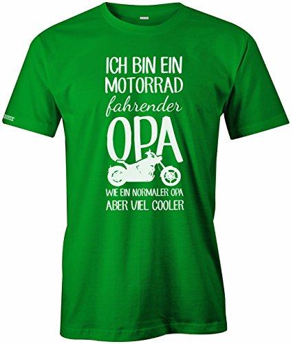 Ich bin ein Motorrad fahrender Opa - Herren T-Shirt Grün