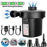 Elektrische Luftpumpe USB Elektropumpe kann Strom speichern Luftmatratze Pumpe 2 in 1 Elektropumpe...
