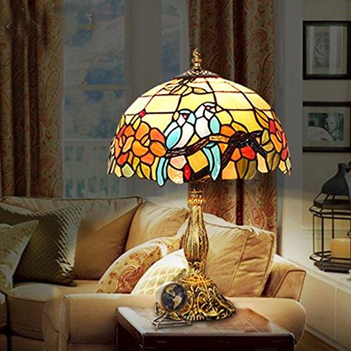 illuminazione lampada da tavolo lampada da letto lampada europeo tavola di nozze creativo comodino da 12 pollici ( colore : Dark Brown Parrot Lamp Base )