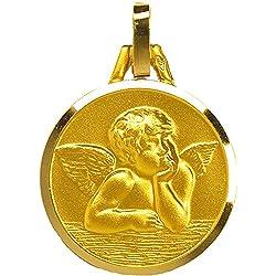1000 médailles de baptême Médaille Chérubin (plaqué Or)