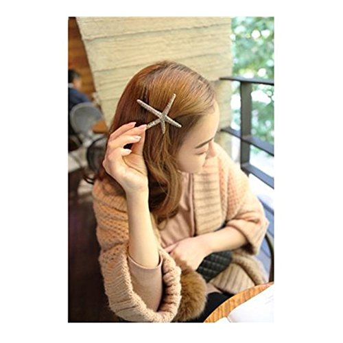 Preisvergleich Produktbild SwirlColor Golden Sea Stern Haarspange Haarschmuck Haar-Band-Haarspangen Sea Star Hairpin