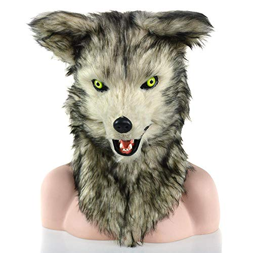 Krieg Wolf Kostüm - XiangYu Halloween Maskerade Tier Simulations Maske