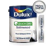 Dulux Professionelle flüssige Lackfarbe, 750ml–reines leuchtendes Weiß, weiß, 750ML 0W, 0V