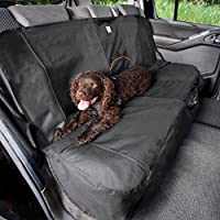‏‪Kurgo Dog Seat Cover | Car Bench Seat Covers for Pets | Dog Back Seat Cover Protector | Water Resistant for Dogs | Contains Seat Anchors | Scratch Proof | Extended Width | 63"