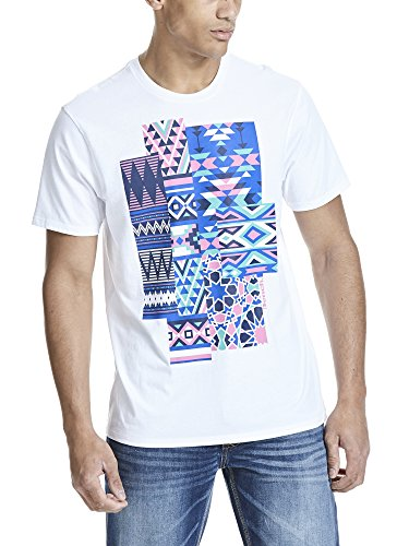 Bench Herren T-Shirt Graphic Tee Shirt Weiß (White WH001)