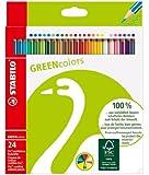 STABILO GREENcolors 24er Etui - FSC-zertifizierte Buntstifte