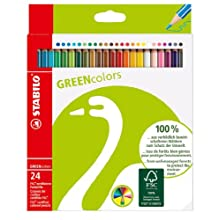 Colouring Pencil - STABILO GREENcolors wallet of 24 assorted colours