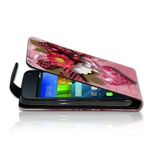 Vertikal Flip Style Handy Tasche Case Schutz Hülle Schale Motiv Etui Karte Halter für Apple iPhone 5 / 5S - Variante VER35 Design1 Design 2