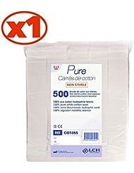 Carrés De Coton 100% Coton Hydrophile Le Sachet De 500 Carrés 5 X 5 Cm - Cot-055 - By Antigua Health Care