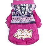 QIYUN.Z Warmen Schneeanzug Schnee Dicke Daunenjacke Mantel Zwei Beinen Kleidung Für Klein Mittel Gro?Hunde Katzen Haustier Hunde Bekleidung & Zubehör Shirts Sweater Hoodies S M L Xl Xxl