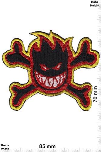 Patch - Fire Smiley - Pirat - Fun Patch - Adult - Weste - Patches - Aufnäher Embleme Bügelbild Aufbügler