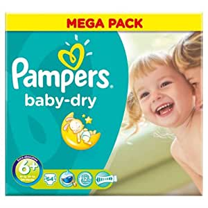 pampers baby dry paquet de 62 couches taille 6. Black Bedroom Furniture Sets. Home Design Ideas