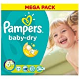 Pampers Baby Dry Paquet de 62 couches Taille 6 +